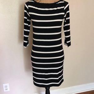 Black & white body con dress